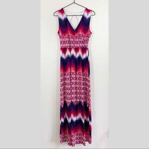 Renee C. Pink & Purple Maxi Dress